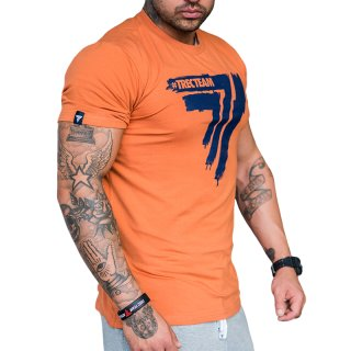 TRECWEAR T-Shirt PLAY HARD 008 Orange