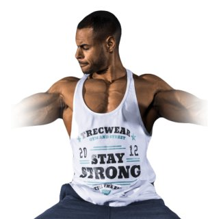 TW Stringer 10 Stay Strong, White Größe M