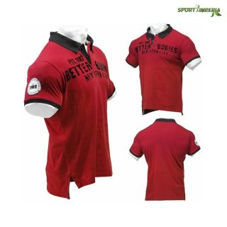 Better Bodies Graphic Piquet Polo Shirt Red L