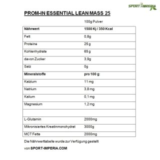 PROM-IN Lean Mass 25 | 1500g Banane
