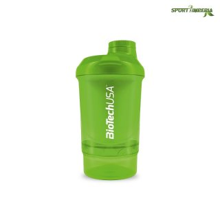 BioTech USA Shaker WAVE+ Nano 300 ml (+150 ml) Grün