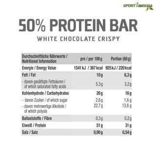 GOT7 50% Protein Bar 60g White Chocolate Crispy