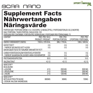 Näno Supps BCAA NANO 6g Portionsbeutel Super Pear