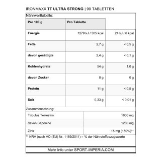 ironMaxx TT Ultra Strong 90 Tabletten