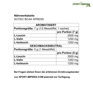 Scitec Nutrition BCAA Xpress 7 g Portionsbeutel Apple