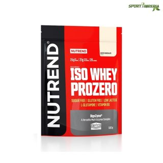 Nutrend ISO Whey Prozero 500 g Beutel Chocolate Brownies