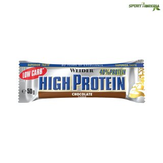 Weider 40% High Protein Bar 50 g Chocolate