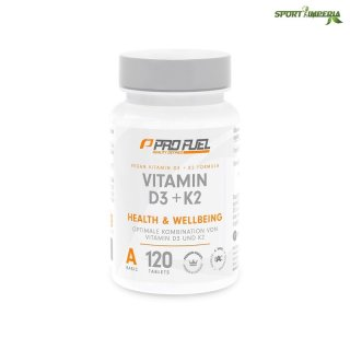 ProFuel VItamin D3 + K2 120 Tabletten